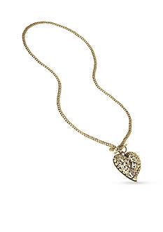 Betsey Johnson Gold-Tone Large Heart Pendant Long Necklace