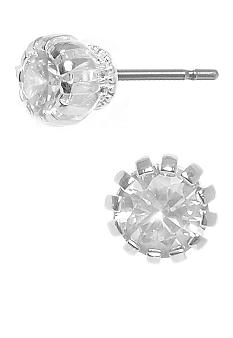 Betsey Johnson Cubic Zirconia Crown Stud Earring