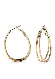 New Directions Double Hoop Pierced Earrings
