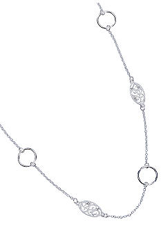 New Directions Single Row Silver Necklace