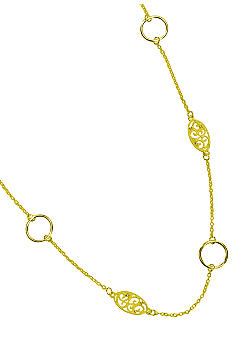 New Directions Single Row Gold Filigree Necklace