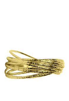 New Directions Gold Textured Bangle Set