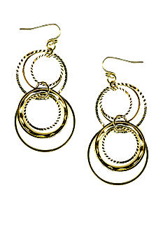 New Directions Gold Multi Ring Earrings