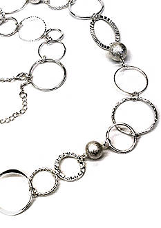 New Directions Single Row Silver-Tone Link Necklace