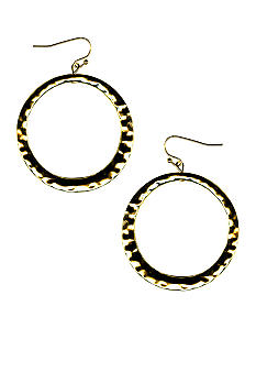 New Directions Hammered Ring Earrings