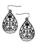 New Directions® Filigree Teardrop Earrings