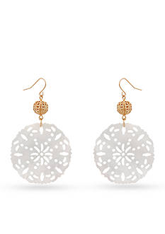 New Directions Gold-Tone In The Sand Filigree Drop Earrings