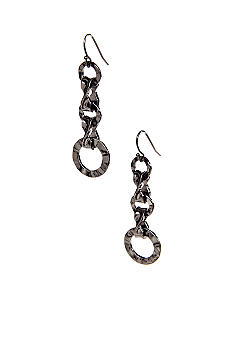New Directions Linear Metal Ring Earrings