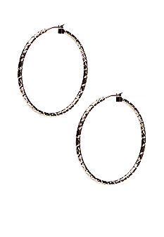 New Directions Small Diamond Cut Hoop Earrings