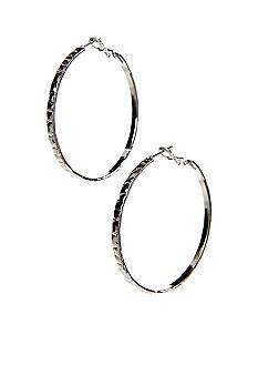 New Directions Textured Hoop Earrings