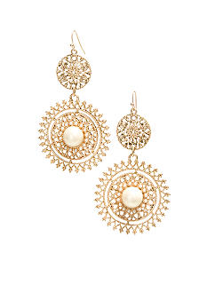 New Directions Pearl Filigree Double Drop Earrings