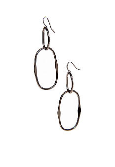 New Directions Oval Hoop Earrings