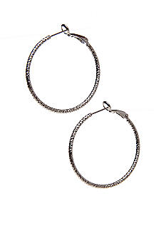 New Directions Small Textured Diamond Cut Hoop Earrings
