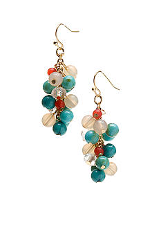 New Directions Turquoise Multi Cluster Earrings