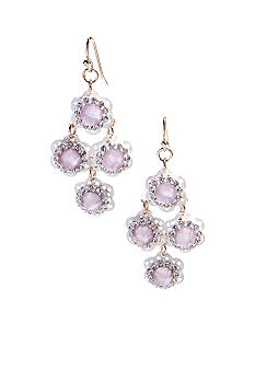 New Directions Small Colored Stone Chandelier Earrings