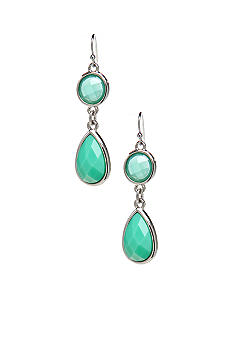 New Directions Mint Faceted Stone Drop Earrings