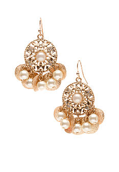 New Directions Pearl Filigree and Diamond Dust Earrings