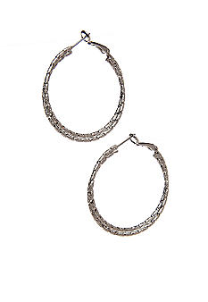 New Directions Twisted Diamond Dust Hoop Earrings