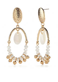 New Directions Gold-Tone In The Sand Chandelier Earrings