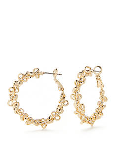 New Directions Metal Lace Hoop Earrings