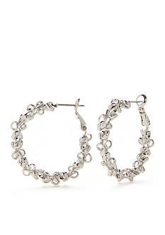 New Directions Metal Lace Hoop Earrings