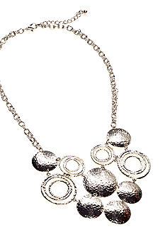New Directions Hammered Disc Bib Necklace