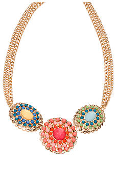 New Directions Multi Colored Filigree Statement Necklace