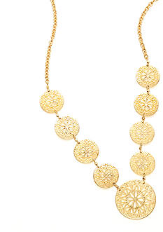 New Directions Worn Gold-Tone Long Single Strand Necklace
