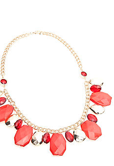 New Directions® Red and Gold Beaded Necklace