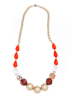 New Directions Multicolored Long Graduated Bead Necklace