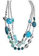 New Directions® Multistrand Turquoise and Silver Ox Necklace