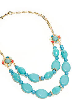 New Directions Turquoise Multicolored Multi Row Necklace