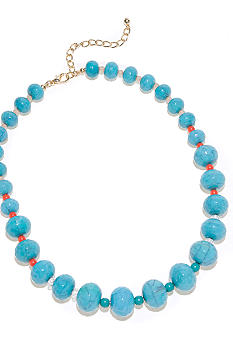 New Directions Turquoise Graduated Bead Necklace