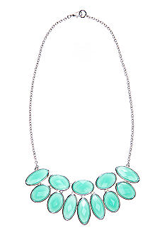 New Directions Mint Faceted Stone Statement Necklace