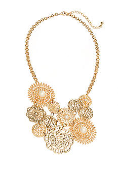 New Directions Pearl Filigree Statement Necklace