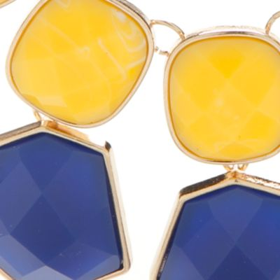 Fashion Statement Necklaces: Blue New Directions Gold-Tone Summer Brights Statement Necklace