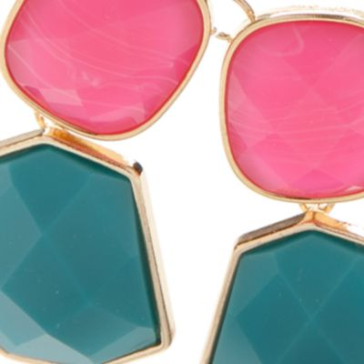 Fashion Statement Necklaces: Pink New Directions Gold-Tone Summer Brights Statement Necklace
