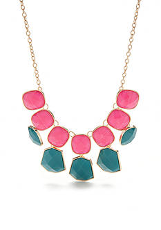 New Directions Gold-Tone Summer Brights Statement Necklace