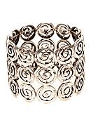 New Directions® Worn Silver Swirl Stretch Bracelet