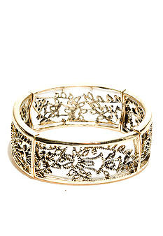 New Directions Gold Filigree Stretch Bracelet