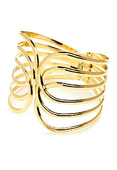 New Directions Open Work Hinged Metal Bangle