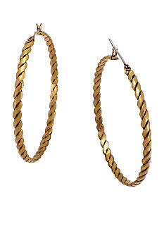 BCBGeneration Gold Hoop Earrings