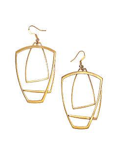 BCBGeneration Gold Geometric Drop Earrings