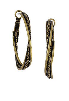 BCBGeneration Gold Small Twist Hoop Earrings