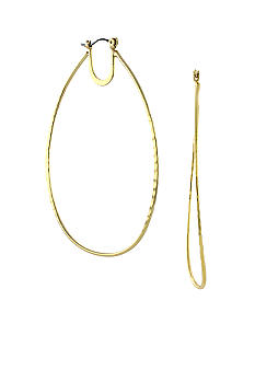 Jessica Simpson Gold Oval Hoop Earrings