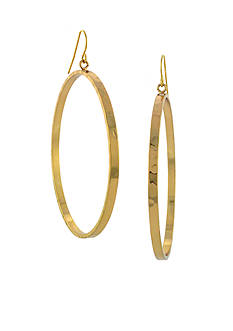 BCBGeneration Gold Drop Hoop Earring