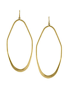 BCBGeneration Gold Apache Elongated Hoop Earrings
