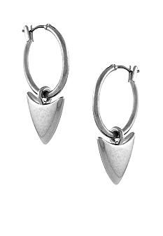 BCBGeneration Beatrix Kiddo Silver Arrow Hoop Earrings