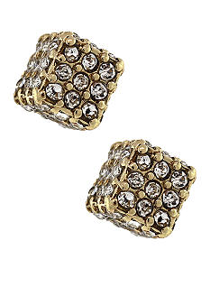 BCBGeneration Flirty Fringe Gold Cube Stud Earrings