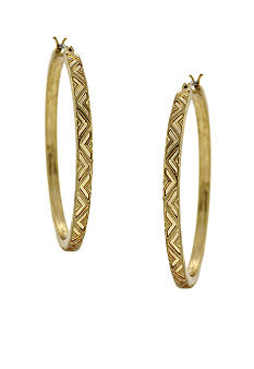 BCBGeneration Gold Chevron Hoop Earrings